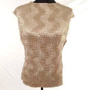 Womens Petite Sophisticate Crinkle Sleeveless Top